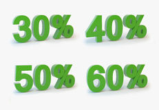 Discount 30-50%. 3d graphics vector illustration