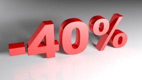 Discount 40% - 3D rendering Stock Image