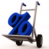 Discount delivery concept Stock Image