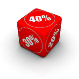 Discount dice Stock Images