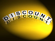 Discount Dice Show Discounts Reductions and Percent Off Stock Photography