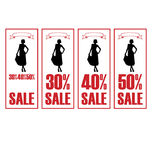 Discount dresses 2 Royalty Free Stock Photography