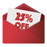 Discount Envelope royalty free illustration