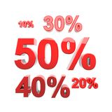Discount fifty percent Stock Image
