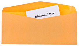 Discount flyer Stock Photography