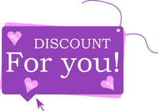 Discount For You Stock Photo