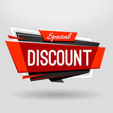 Discount Geometric Banner Royalty Free Stock Image