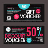 Discount and gift voucher template Stock Photo