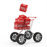 Discount gifts Royalty Free Stock Image