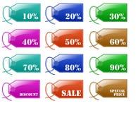 discount glossy label sale иллюстрация вектора