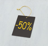 Discount gray tag Royalty Free Stock Image