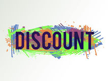 Discount-green-orange. Vector colorful discount background. Abstract texture. Artistic design element. Sale banner Royalty Free Stock Photos