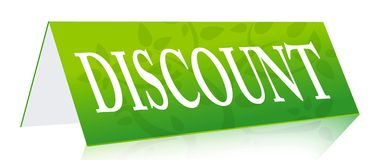 Discount green sign Stock Images