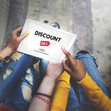Discount Half Price Marketing Promotion Consumer Concept Royalty Free Stock Photo