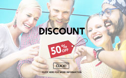 Discount Half Price Marketing Promotion Consumer Concept Royalty Free Stock Image