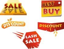 Discount-Handel Ikonen Lizenzfreie Stockfotos