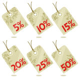 Discount hang tags design elements Stock Image