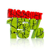 15% discount icon Stock Image