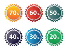 Discount icon set royalty free stock images