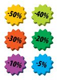 Discount icons Stock Image