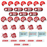 Discount icons royalty free illustration