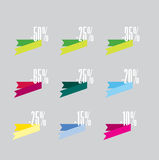 Discount icons Stock Images