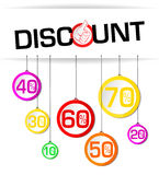 Discount illustration Stock Image