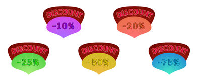 Discount label Royalty Free Stock Photos