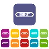 Discount label icons set Stock Images