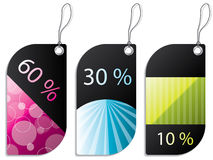 Discount label set Royalty Free Stock Image