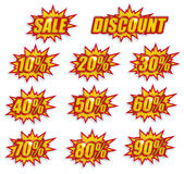 Discount label set Stock Images