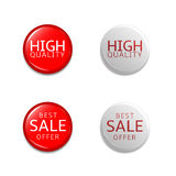 Discount label set Royalty Free Stock Photography