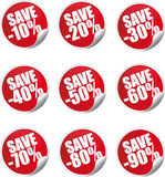 Discount label and sticker Stock Images