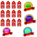 Discount label and sticker. Royalty Free Stock Photos