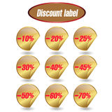 Discount label and sticker. Label Information Badge Shop Sticker Advertising Discount Price Business Paper royalty free illustration