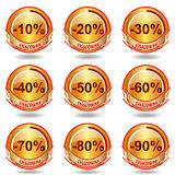 Discount label and sticker. Royalty Free Stock Image