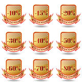 Discount label and sticker. Royalty Free Stock Photography