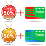 Discount label and sticker. Stock Images