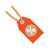 Discount label tag icon vector illustration Flat design style Royalty Free Stock Images