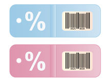 Discount Labels Stock Photo