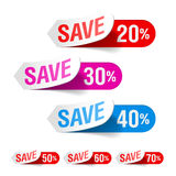 Discount labels royalty free illustration