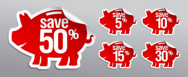 Discount labels. Stock Photos