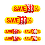Discount labels Royalty Free Stock Images