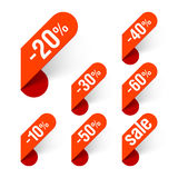 Discount labels Stock Photography