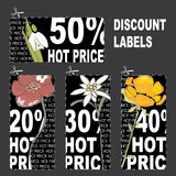 Discount labels Royalty Free Stock Photography