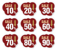 Discount labels. In different ways Stock Photography
