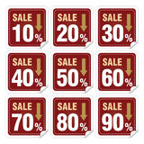 Discount labels. In different ways Royalty Free Stock Photos