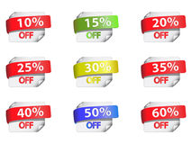 Discount labels. Royalty Free Stock Photography