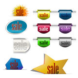 Discount labels color group Stock Photos