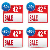 Discount labels. On a gray background Stock Photography